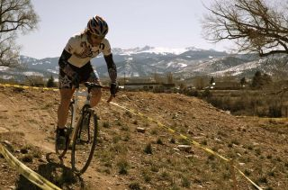 Jake Wells, representing Mafia Racing at Cult Cross on Sunday, March 15, 2009 in Eagle, CO. by Karen Jarchow