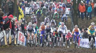 Men on lap one, Hoogerheide Cyclocross World Cup