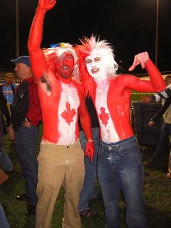 Candian Fans - by Sean Horita