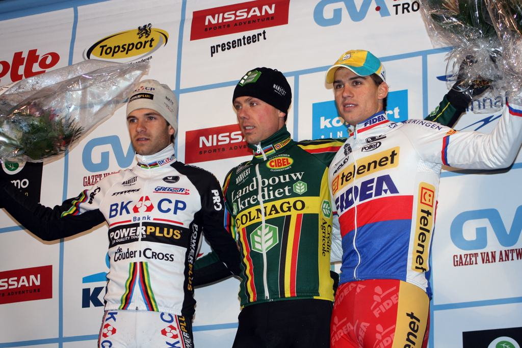 The strongest top 3 all year: 1) Nys, 2) Albert 3) Stybar. 2009 Azencross - Loenhout GVA Trofee Series. ? Bart Hazen