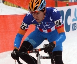 Danny Summerhill (Felt-Holowesko Partners-Garmin) rode inside the top ten early in the race -  Kalmthout 2009 Cyclocross World Cup. ? Bart Hazen