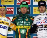 Pauwels (l), Nys and Albert on the podium. © Bart Hazen