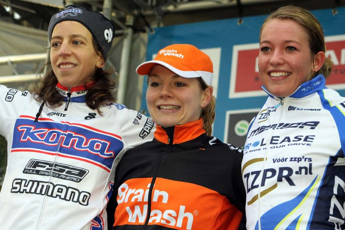 Wyman (l), van Paassen and de Boer on the podium. © Bart Hazen