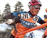Meille Blomberg pushes through the slop. © Janet Hill