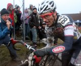 Pacocha gets some encouragement. © Cyclocross Magazine