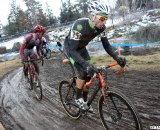 Stevenson (r) works to keep his spot on the podium. © Cyclocross Magazine
