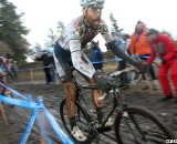 Baker works to find a clear path to victory. © Cyclocross Magazine
