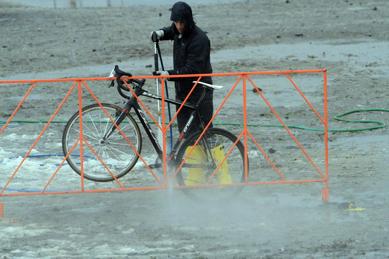 The bike washes were hardly used despite the thick mud.  © Janet Hill