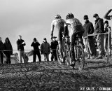 Summerhill leading McDonald. U23 Race, 2010 Cyclocross National Championships © Joe Sales