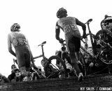 The second-to-last ascent of the stairs. U23 Race, 2010 Cyclocross National Championships © Joe Sales
