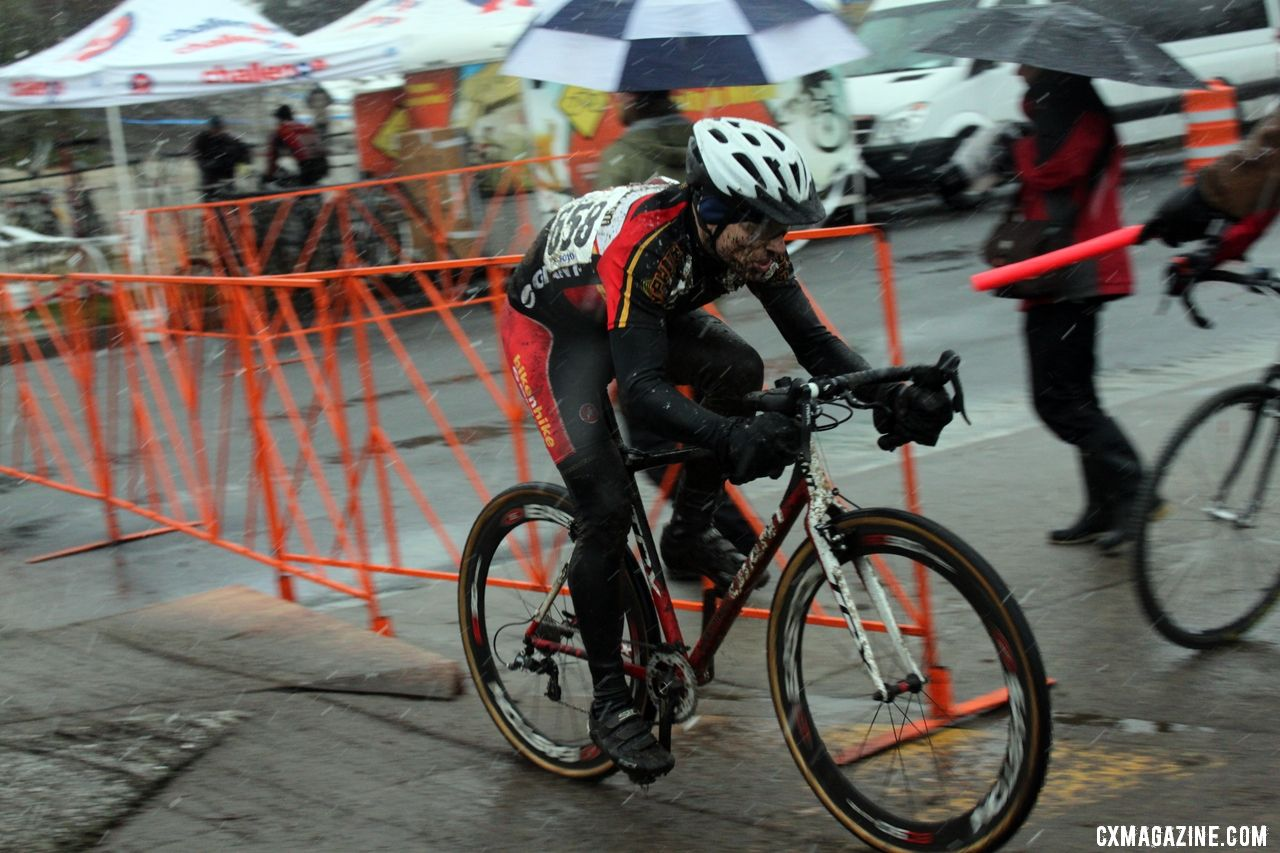 Cramer in front of Hines. © Cyclocross Magazine