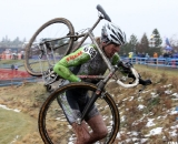 Steve Tilford on the run-up for the last time. © Cyclocross Magazine
