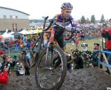 Fans of all types encourage Trebon to close the gap. © Cyclocross Magazine