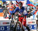 Julian Alaphilippe prepares to remount on his ride to second place. ? Bart Hazen