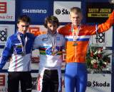 The first podium of the 2010 World Championships. ? Bart Hazen