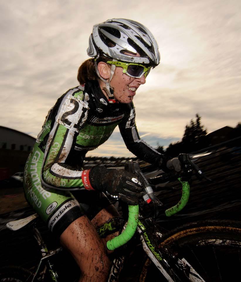 Kaitie Antonneau en route to a U23 championship © Steve Anderson