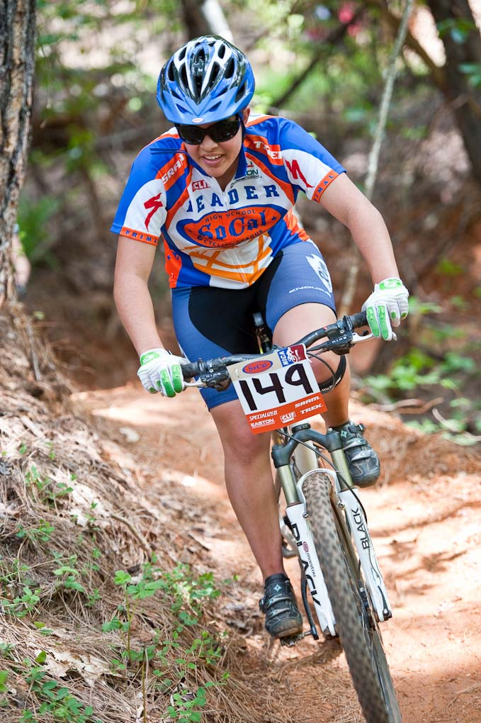 SoCal JV Girl\'s series leader Maddy Horan in action during the NICA California State Championships at Loma Rica Ranch in Grass Valley, California on May 16, 2010. © Robert Lowe.