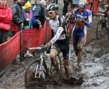 Niels Albert leads the way through the mud © Bart Hazen