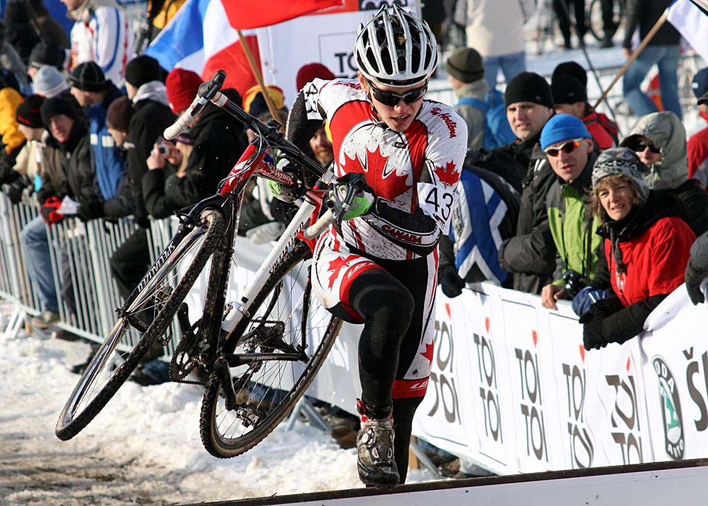 Canada\'s Jared Stafford was the last rider to be lapped.2010 U23 Cyclocross World Championships. ? Bart Hazen