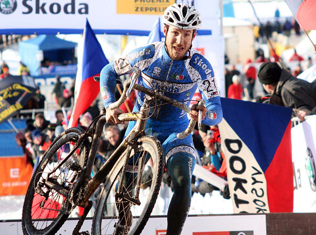 Italy\'s Elia Silvestri poses for the camera. 2010 U23 Cyclocross World Championships. ? Bart Hazen