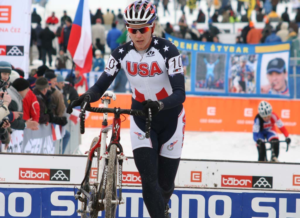 Meredith Miller was the top placed American in Tabor, in 12th. ? Bart Hazen