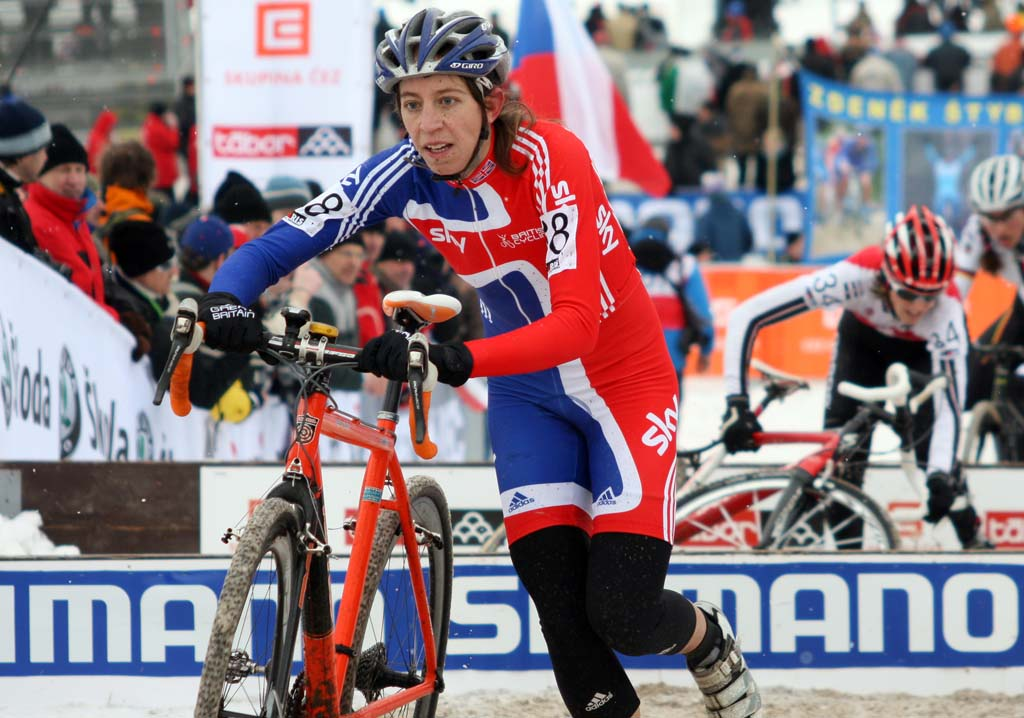 Helen Wyman was disappointed by her result in Tabor. ? Bart Hazen