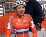 Sophie De Boer tries to catch her breath after the race. ? Bart Hazen