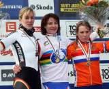 Kupfernagel (l), Vos and Van Den Brand share the podium in Tabor. ? Bart Hazen