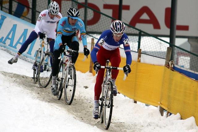 Mathieu Boulo leads Wietse Bosmans and Vincent Baestaens © Bart Hazen