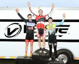 The Men's podium (L to R): Lindine, McNicholas, Townsend. ©Natalia Boltukhova | Pedal Power Photography | 2011