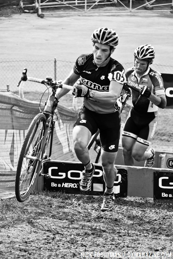Babcock and Reeb hit the barriers © Nick Fochtman