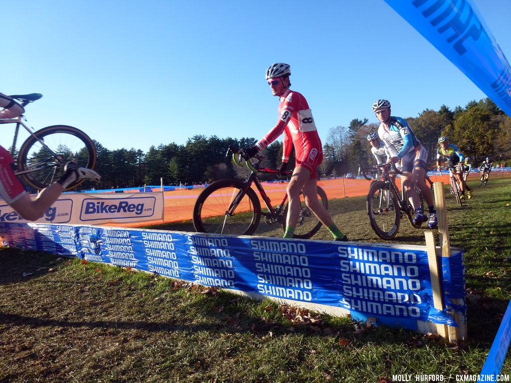Winterberg on barriers © Cyclocross Magazine
