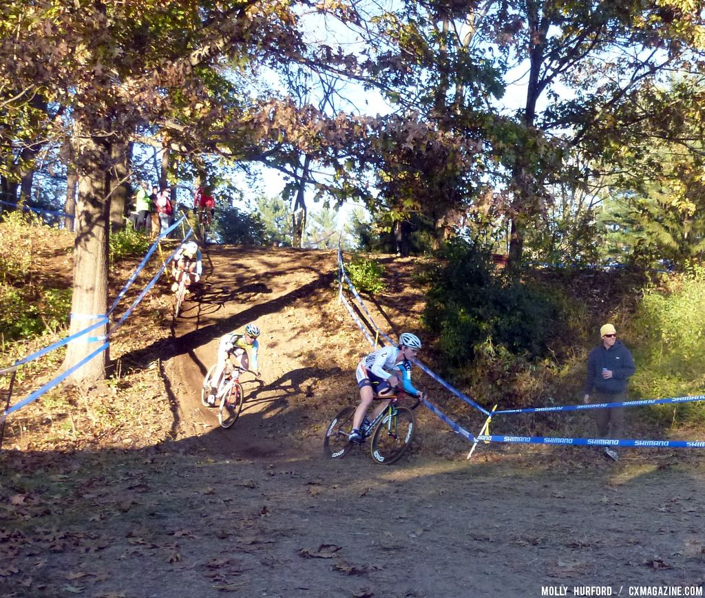 Luke Keough on the down hill. © Cyclocross Magazine