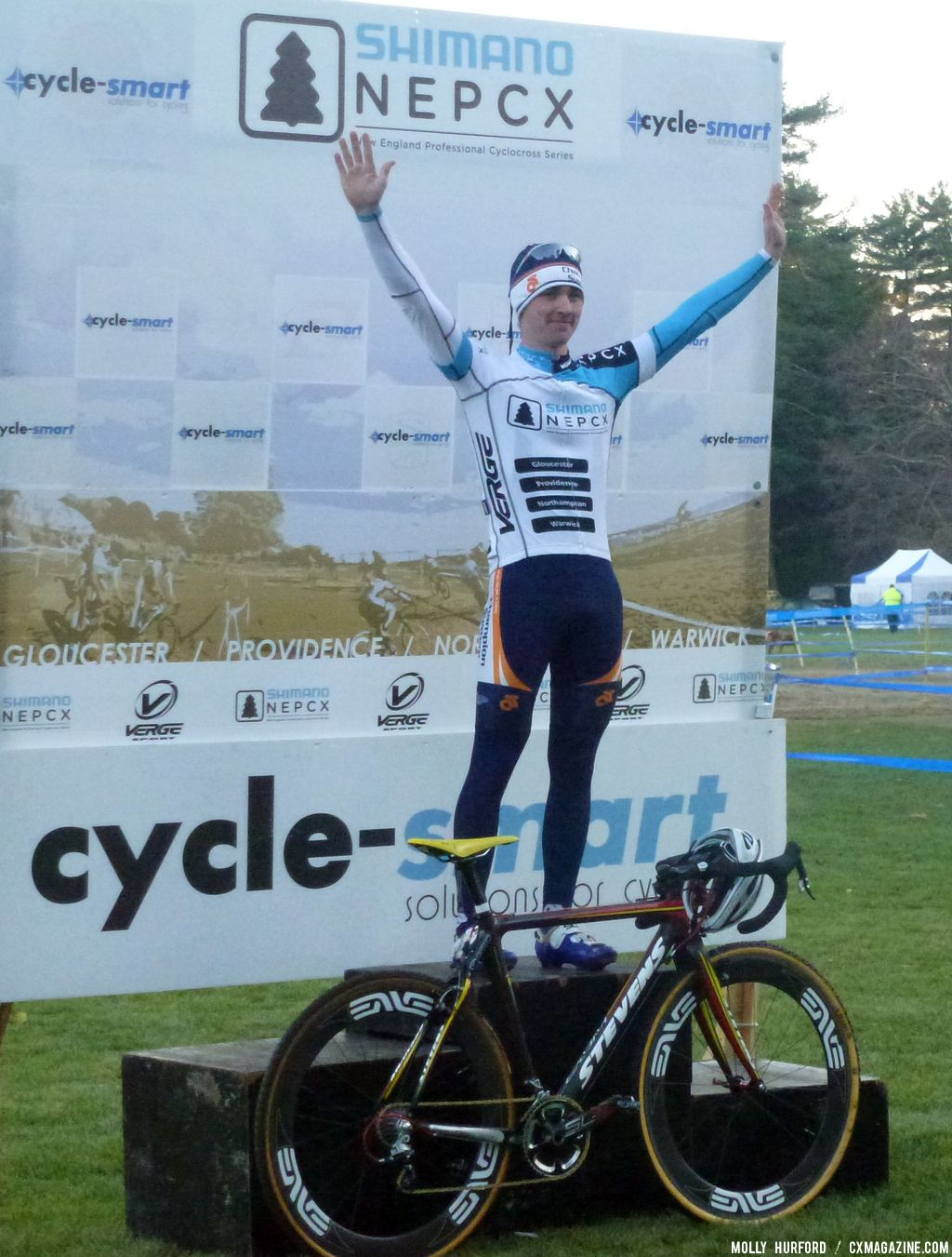 Luke Keough is now leading the Shimano series in U23 and overall. © Cyclocross Magazine