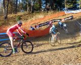 Winterberg takes the off-camber turn. © Cyclocross Magazine