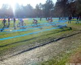The three leaders pass the pit for the last time. © Cyclocross Magazine