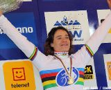 Marianne Vos took her third consecutive world cyclocross title