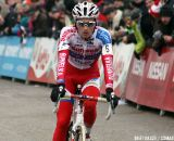 Jim Aernouts finishing in second at the final official race of the season in Oostmalle.