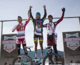 The men's podium: Tsujiura, Takenouchi, and Yamamoto.2011 Nobeyama, Japan UCI Cyclocross Race. © Cyclocross Magazine