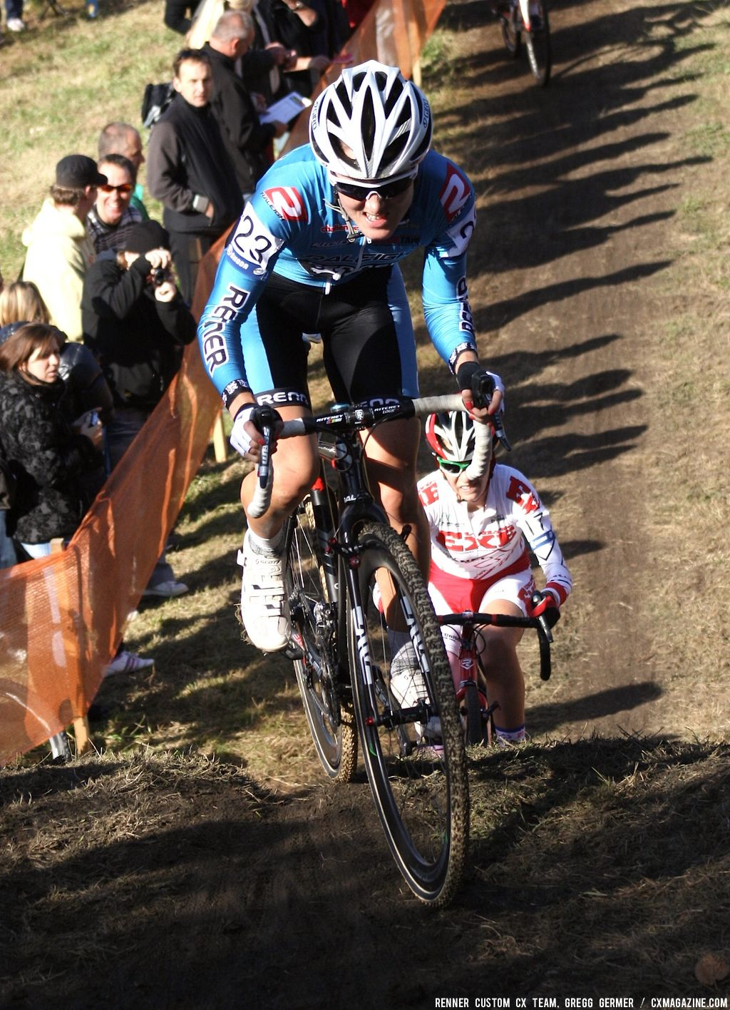 Gabby Day on the hill. © Renner Custom CX Team, Gregg Germer