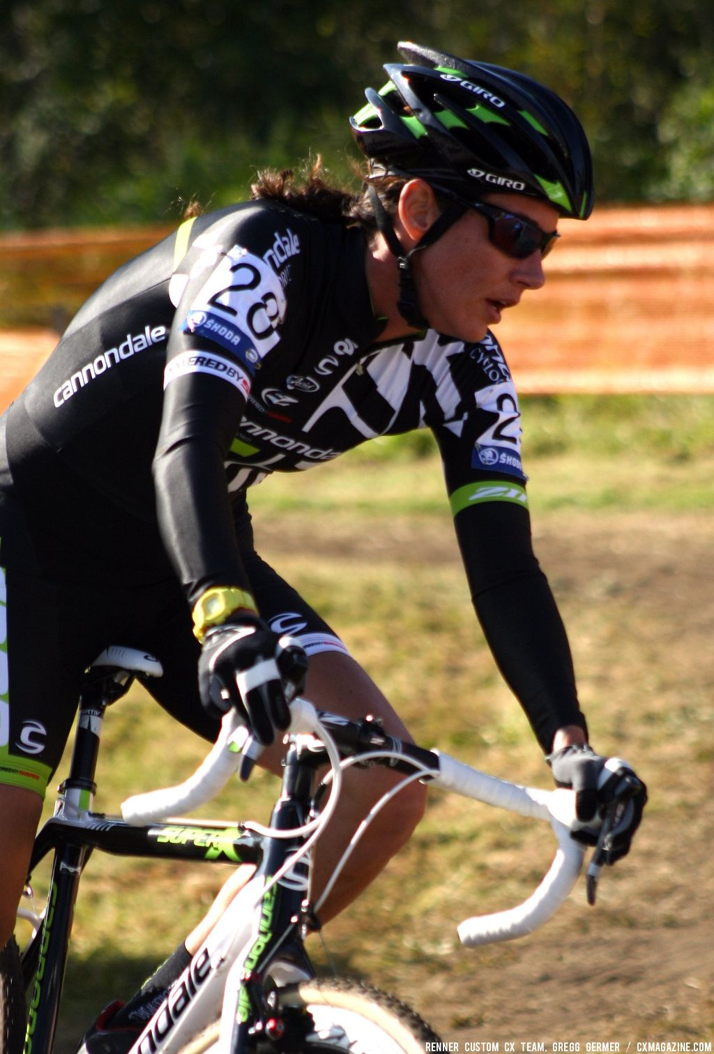 Nicole Duke in the turn. © Renner Custom CX Team, Gregg Germer