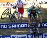 Men's Chase Group bunnyhops the barriers. © Renner Custom CX Team, Gregg Germer