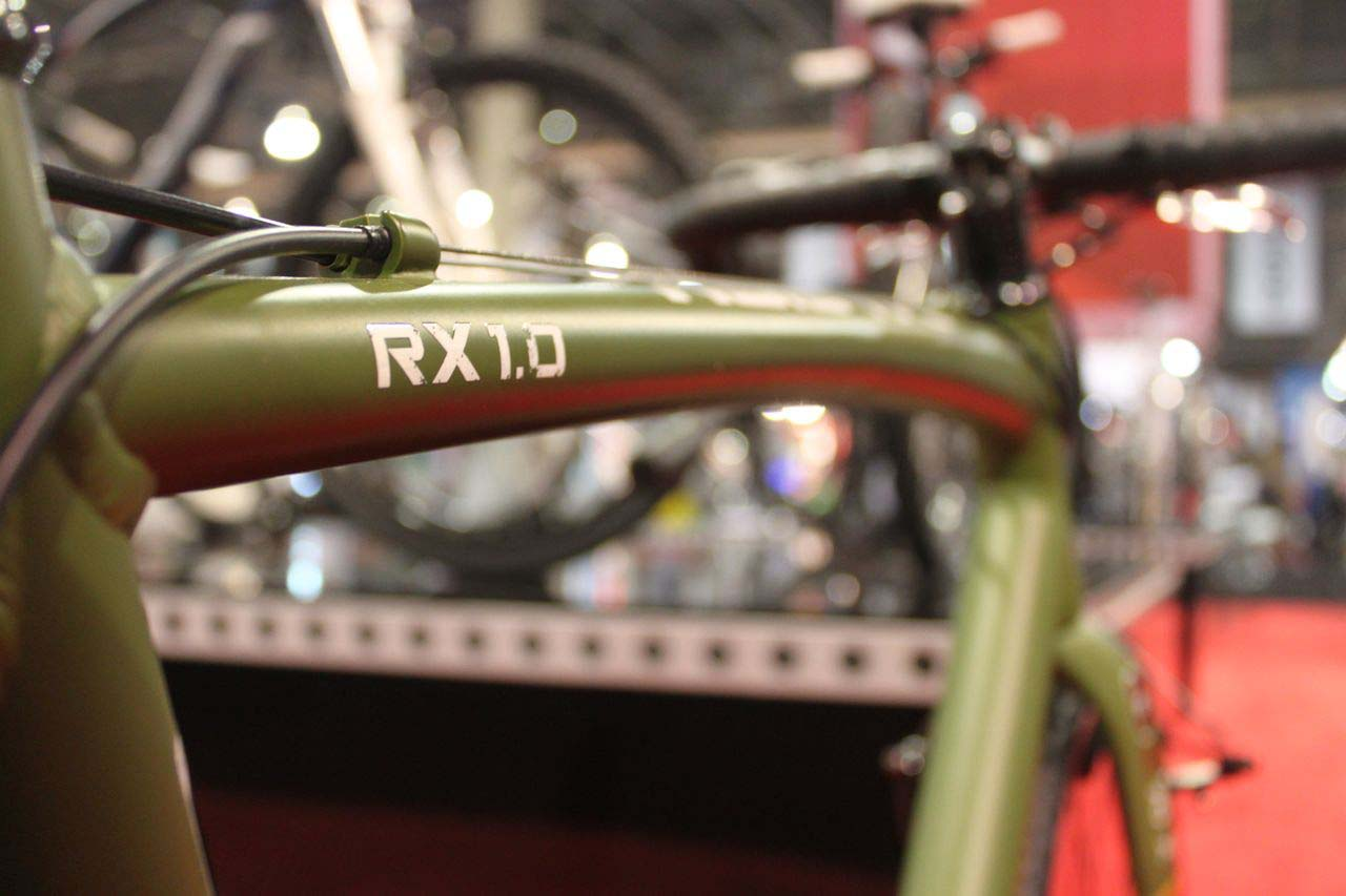 The top tube on the RX 1.0 is shaped to ease shouldering. © Cyclocross Magazine