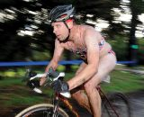 Some racers assumed it was a triathlon, thanks to the cesspool, and dressed for it. © Steve Anderson