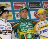 The Podium - Sven Nys, Niels Albert, and Kevin Pauwels