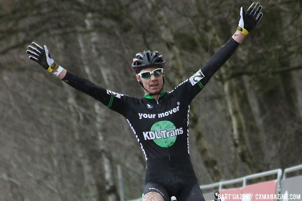 KDL-Trans captain Vincent Baestaens takes the U23 win in Hoogstraten
