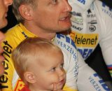 Bart Wellens and his daughter