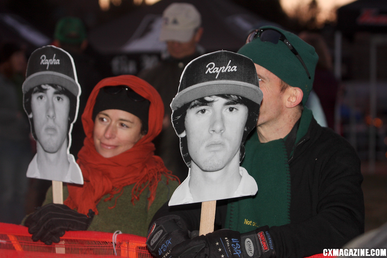 Fans show their support for Rapha\'s Zach McDonald. ©Pat Malach