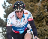 Jeremy Powers rode most of the race on or near the front. ©Pat Malach