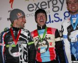 The men's podium: Johnson, Powers and Summerhill. ©Pat Malach